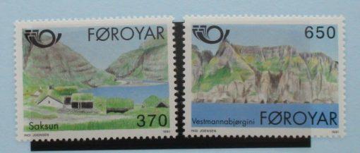 Faroe Islands Stamps, 1991, SG214-215, Mint 5