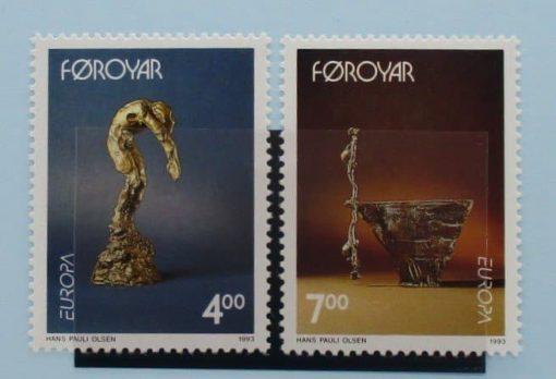 Faroe Islands Stamps, 1993, SG241-242, Mint 5
