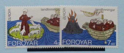 Faroe Islands Stamps, 1993, SG253-254, Mint 5