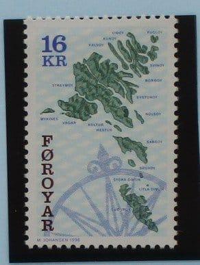 Faroe Islands Stamps, 1996-2000, SG305, Mint 5