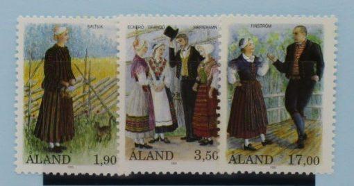 Aland Islands Stamps, 1993, SG68-70, Mint 5