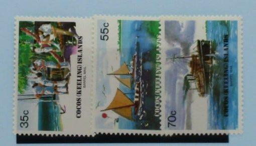 Cocos (Keeling) Islands Stamps, 1984, SG111-113, Mint 5