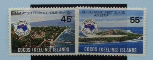 Cocos (Keeling) Islands Stamps, 1984, SG119-120, Mint 5